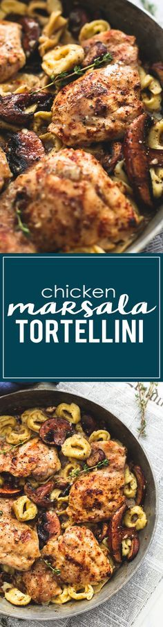 Chicken Marsala Tortellini | lecremedelacrumb.com