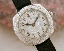 Amazing 1920's Solid Platinum Deco Ladies Watch! Mint Condition-Reserved for Georgina Perkins