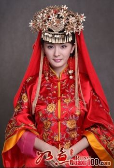 The bride's jewelry in China
