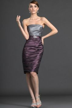 Rectangle Chic & Modern Taffeta Misses Inverted Triangle Thin Sleeveless Hourglass Pleated Cocktail Dress