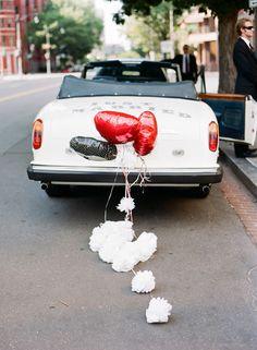 Red and White Wedding Getaway Car Wedding cars, wedding SUV, Bridal transportation. Wedding Limos