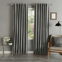 Grey Wool 84-inch Curtain Panel Pair - Overstock™ Shopping - Great Deals on Curtains