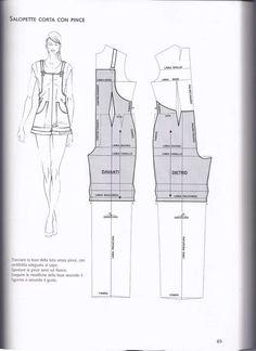 modelist kitapları: la tecnıca deı modellı donna uomo - Best Sewing Tips Jumpsuit Pattern, Pants Pattern, Easy Sewing Patterns, Clothing Patterns, Vogue Patterns, Vintage Patterns, Vintage Sewing, Sewing Clothes, Diy Clothes