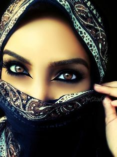 The eyes unlock the hearts unspoken words, and the veil covers what the eyes can't control.