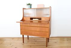 secretaire-teck-maison-nordik-MNS084.1 Decoration, Magazine Rack, Cabinet, Storage, Furniture, Home Decor, Scandinavian Furniture, Contemporary, Decor