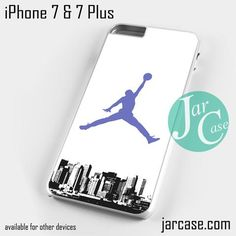 Purple Air Jordan City YG Phone case for iPhone 7 and 7 Plus
