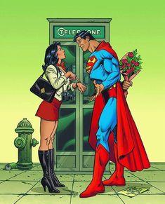 Superman and Lois Lane by Jose Luis Garcia Lopez.
