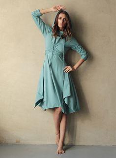 """Купить Платье """"Полимино-Заоблачность"""" с возможностью вариаций элементов - голубой, голубое платье, голубой цвет"""