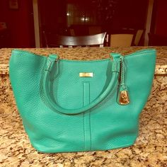 Cole Haan Village Triangle Tote Fun, sensible tote in GREEN! Barely used - it's in perfect condition! Cole Haan Bags Totes