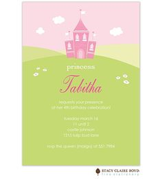 Stacy Claire Boyd Tabitha's Castle Party Invitation