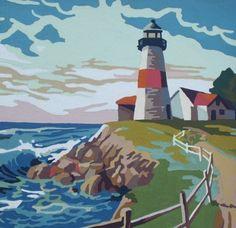 Lighthouse - I like the way the sky is treated