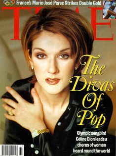 Celine Dion on Time Cover