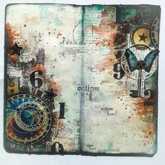 Art journal and Mixed Media projects: Destiny - An Art Journal Spread