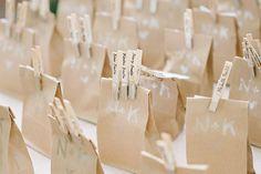 paper bag wedding favours