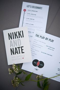 Wedding Graphics: Invitation & Schedule via Style Me Pretty