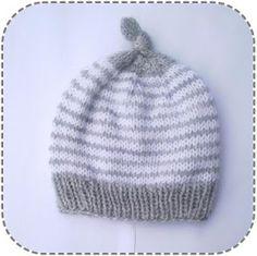 A la Sascha: Simpele gestreepte baby muts! Baby Hats Knitting, Knitting Kits, Crochet Baby Hats, Free Knitting, Knitting Projects, Knitted Hats, Knit Crochet, Knitting Ideas, Baby Hat Patterns