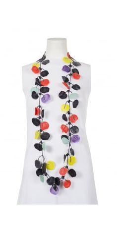 Annemieke Broenink Handmade Happy Poppy Rubber Necklace from idaretobe