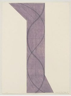 "vjeranski:  Robert Mangold Column Structure VII ,  2006. pastel and black pencil on paper,  30-1/4"" x 22-1/2"" (76.8 cm x 57.2 cm)."