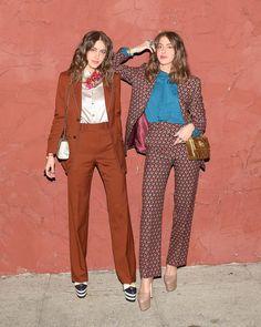 Sama Khadra and Haya Khadra, both in Gucci - Gucci's Girls' Dinner - April 2016