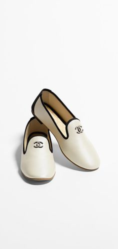 Loafers, iridescent lambskin-white - CHANEL