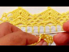 Crochet Edging Patterns, Crochet Lace Edging, Crochet Necklace, Knitting, Youtube, Crochet Carpet, Crochet Hammock, Crochet Baby Hats, Knitted Booties