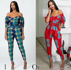 African Dress For Women Kanga Clothing Ankara Floral Wax Print V-Neck Backless Bazin Africain Femme Ladies Gowns African Fashion Ankara, Latest African Fashion Dresses, African Inspired Fashion, African Dresses For Women, African Print Dresses, African Print Fashion, African Attire, African Style, African Print Jumpsuit