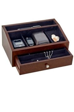 Reed & Barton Jewelry Box, Jackson Men's Accessory Chest 548mbk