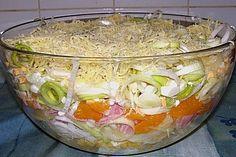 24 - Stunden - Schichtsalat mit Ananas und Mandarinen (Rezept mit Bild) | Chefkoch.de