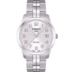 Tissot PR 100 Silver Dial Bracelet Men's Watch