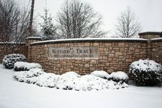 Buffalo Trace Distillery snow