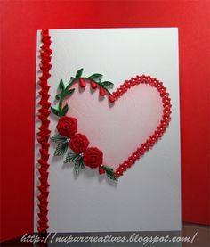 Valentines Day Card  quilling  Raluca Vezeteu  Cards  Made by