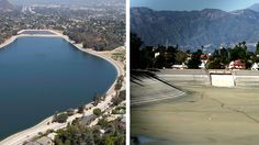 What was found when Silver Lake Reservoir was last drained: Golf balls and a gold ring