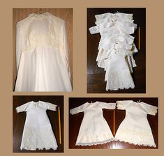 Gowns repurposed from donated wedding dresses into burial gowns and wraps for families of precious preemie babies. Consider donating your dusty dress to this worthwhile cause! NO PATTERN Angel Gowns, Angel Dress, I Dress, Old Wedding Dresses, Wedding Gowns, Preemie Babies, Preemies, Preemie Clothes, Baby Gown