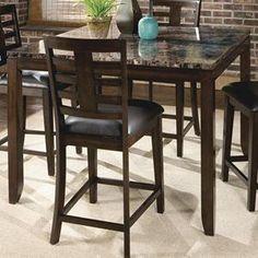 Faux Marble Top Counter Table | Nebraska Furniture Mart
