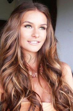 Beautiful Long Curly Hair with Brown Highlight Lace Front Wig 100% Human Hair about 22 inches : wigsbuy.com