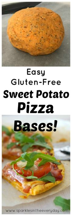 An easy and delicious Gluten-Free Sweet Potato Pizza Base that has no eggs, no yeast, is gluten-free and you can even use a rolling pin to make the perfect pizza base! Fodmap Recipes, Dairy Free Recipes, Real Food Recipes, Vegetarian Recipes, Cooking Recipes, Healthy Recipes, Wheat Free Recipes, Sweet Potato Pizza, Sweet Potato Recipes