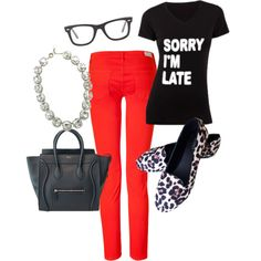 """I thought I was on time..."" by mindymaesmarket on Polyvore"