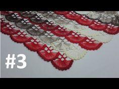 How to Knit – Hand Fan Scarf with a Card – Harika El işleri-Hobiler Crochet Cardigan, Crochet Shawl, Crochet Stitches, Knit Crochet, Bridal Comb, Vest Pattern, Friendship Bracelet Patterns, Baby Knitting Patterns, Hand Fan
