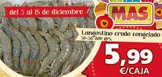 Hasta el 15 de Diciembre de 2012, la caja de langostinos crudos congelados a 5,99€  #ofertas #marisco #navidad