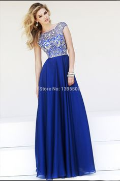 Cheap dress cocktail dress, Buy Quality dresses guess directly from China dress flax Suppliers:New Arrival 2014 Boat Neck Crystal Beaded Prom Dresses A line Chiffon Long Sleeveless Floor Length Evening Dresses vest