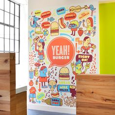 Branding and illustration for Yeah! Burger Tad Carpenter