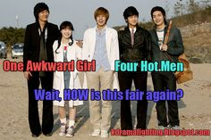 Boys Over Flowers. Why can't I have hot men like that? :( Maybe because I'm in America INSTEAD OF KOREA! The struggle is too real right now F4 Boys Over Flowers, Boys Before Flowers, Gu Hye Sun, Geum Jan Di, Top Drama, Awkward Girl, Ji Hoo, Playful Kiss, Korean Shows