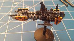 WIP Space Wolves Strike Cruiser