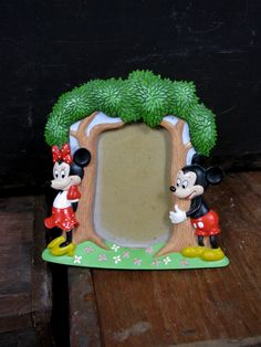 Disney Frame - Mickey Mouse -  Vintage Mickey Mouse - Vintage Disney - Disneyana - Walt Disney - Minnie Mouse - by MissieMooVintageRoom on Etsy