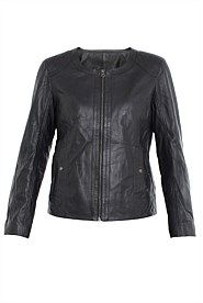 Leather Jacket with Quilting