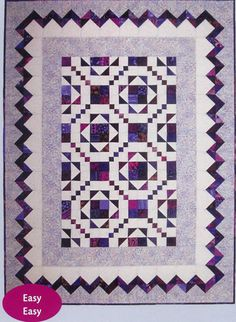Quilter's Rick Rack Quilt Pattern TOL-142 by Touch Of Love - Gwen Lundgren. Easy quilt pattern. Mini, lap and throw, twin, queen & king sizes.