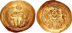 Constantine IX Monomachus. 1042-1055. AV Histamenon Nomisma (30mm, 4.42 g, 6h). Constantinople mint.