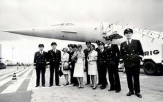 concorde cabin crew First Flight CDG-RIO Captain Chamoine CONCORDE F-BVFA