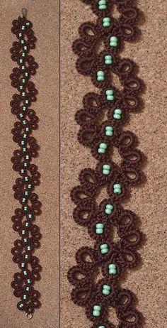 Beautiful example of crochet tatting  modelo legal, blog e loja interessantes