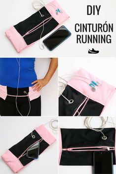 DIY Running Belt – Laufgürtel – # Belt # Laufgürtel - Famous Last Words Easy Sewing Projects, Sewing Hacks, Sewing Crafts, Diy Jewelry Unique, Diy Jewelry Making, Running Belt, Running Shirts, Diy Fashion, Ideias Fashion